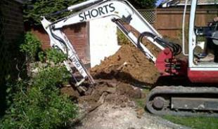 Root barrier excavation